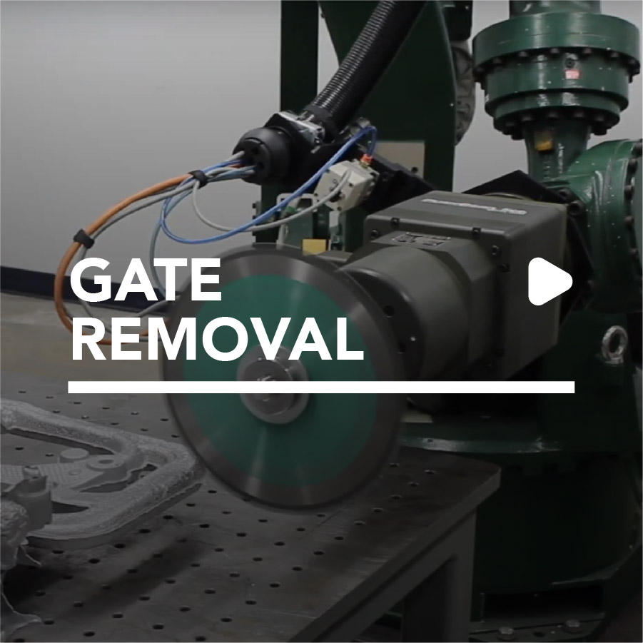 robotic gate removal by PushCorp