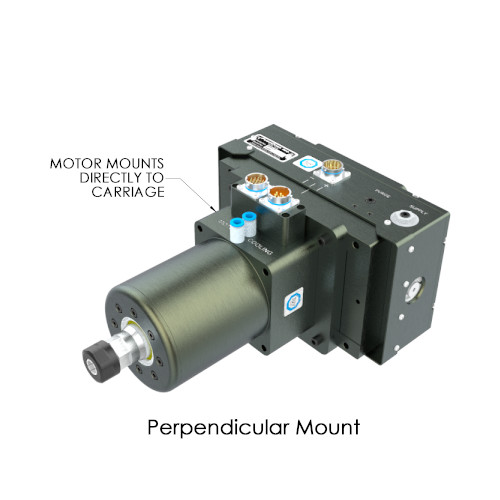Perpendicular Mount SM1503 High Speed Servo Spindle