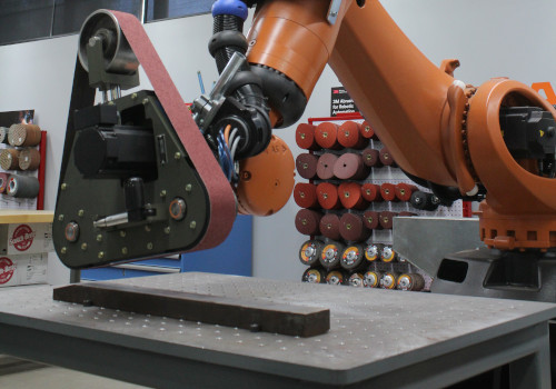 robotic sanding application by PushCorp